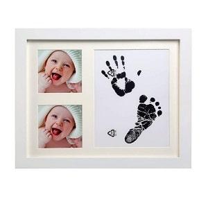 huellas de bebes marco color